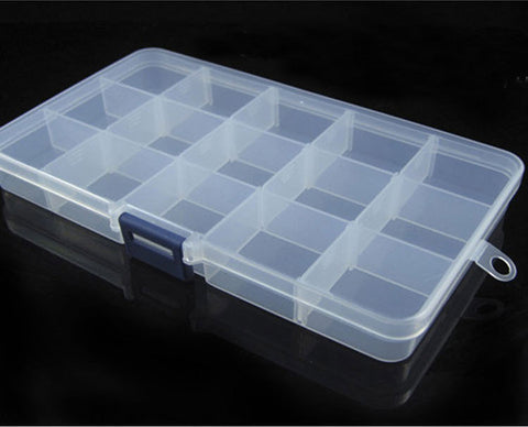 Adjustable-Lure-Hook-Storage-Case-Multifunctional-Box-15-Slots-HENGJIA