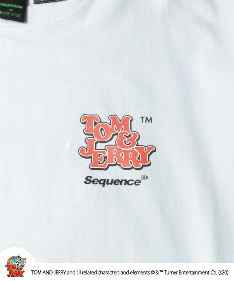 Sequence / TOM and JERRY 90's ART L/S TEE / トムとジェリー 90's プリント ロゴ ロンT 2021 / 長袖 Tシャツ / B-ONE-SOUL