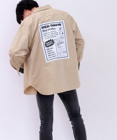 【 BEN DAVIS ( ベンデイビス )】ADVERTISED LONG SLEEVE WORKSHIRTS