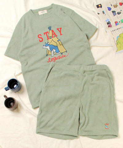Kailua Bay / STAY TOGETER DOG PILE TEE+SHORTS SET (NanoTec) 《WEB限定》