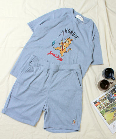 Kailua Bay / HOBBIE GOOD DAYS PILE TEE + SHORTS SET (NanoTec) 《WEB限定》