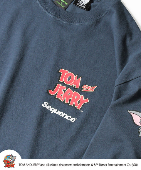 Sequence / TOM and JERRY FACES SLEEVE L/S TEE / トムとジェリー 袖 プリント ロゴ ロンT / 長袖 Tシャツ / B-ONE-SOUL