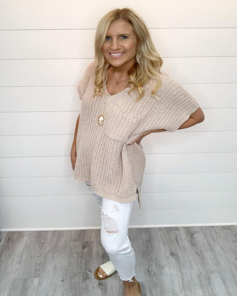 Get Glowing Chenille Sweater-Sweaters-Pol Clothing-Small-Beige-Inspired Wings Fashion