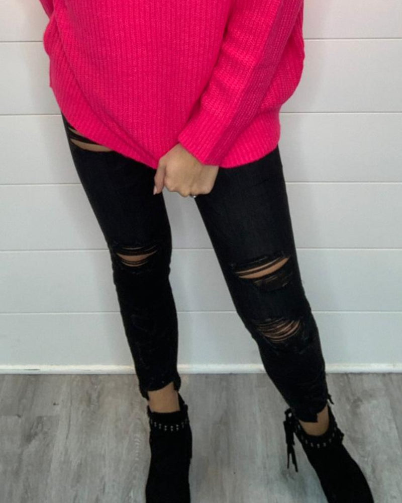 Black Crop Skinny Jeans-bottoms-Flying Monkey Jeans-24-Inspired Wings Fashion