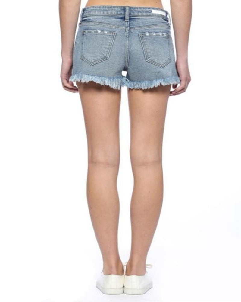 High Rise Shorts w/ Fray-bottoms-Cello-Small (0/2)-Inspired Wings Fashion