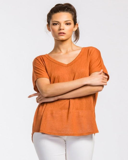 Days To Smile Blouse-Tops-Inspired Wings Fashion-Medium-Rust-Inspired Wings Fashion