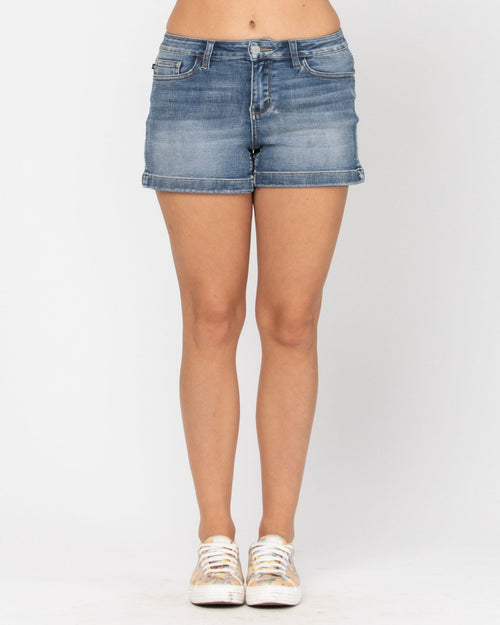 Laid Back Denim Shorts-bottoms-Judy Blue-Small-Inspired Wings Fashion