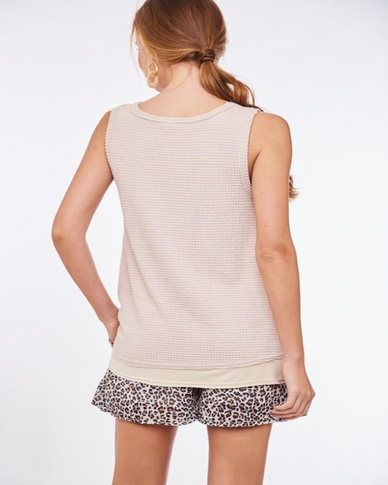 Belongs to My Heart Tank- Taupe-Tops-inspiredwingsfashion-Small-Inspired Wings Fashion