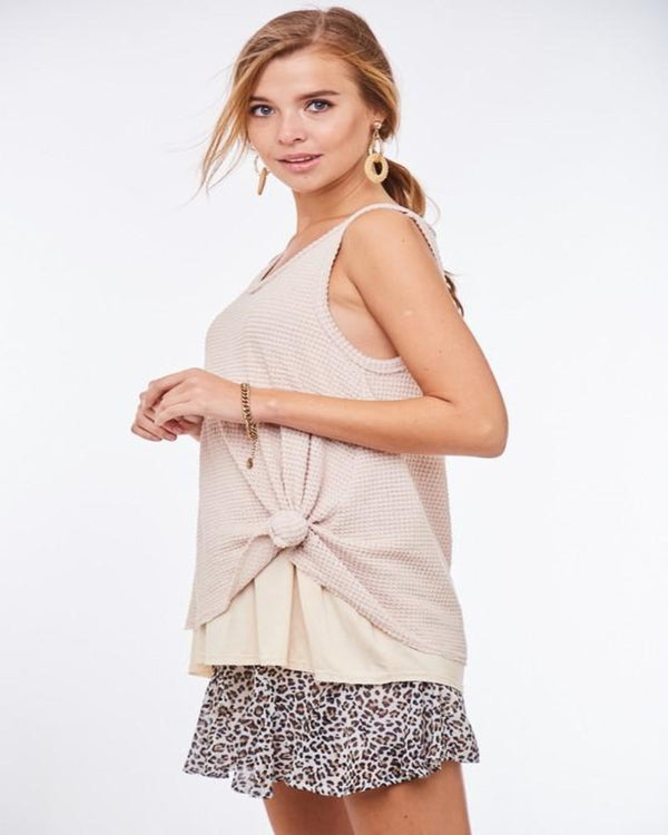 Belongs to My Heart Tank- Taupe