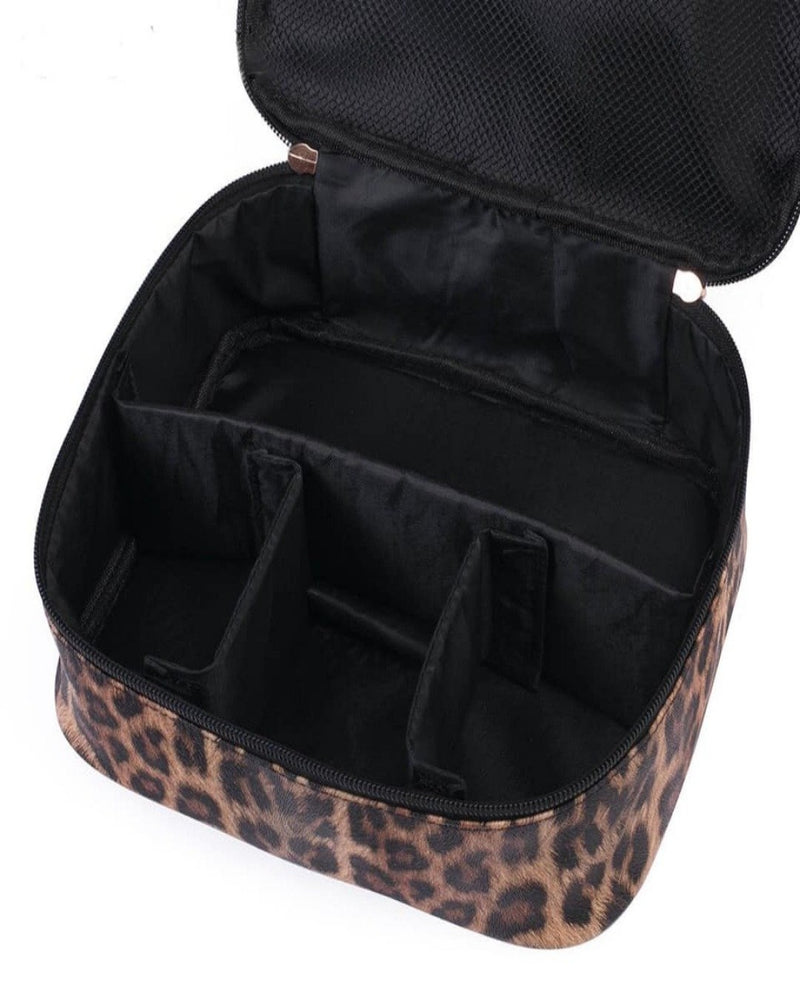 Leopard Makeup Cases-Bag and Purses-Julia Rose Wholesale-Inspired Wings Fashion