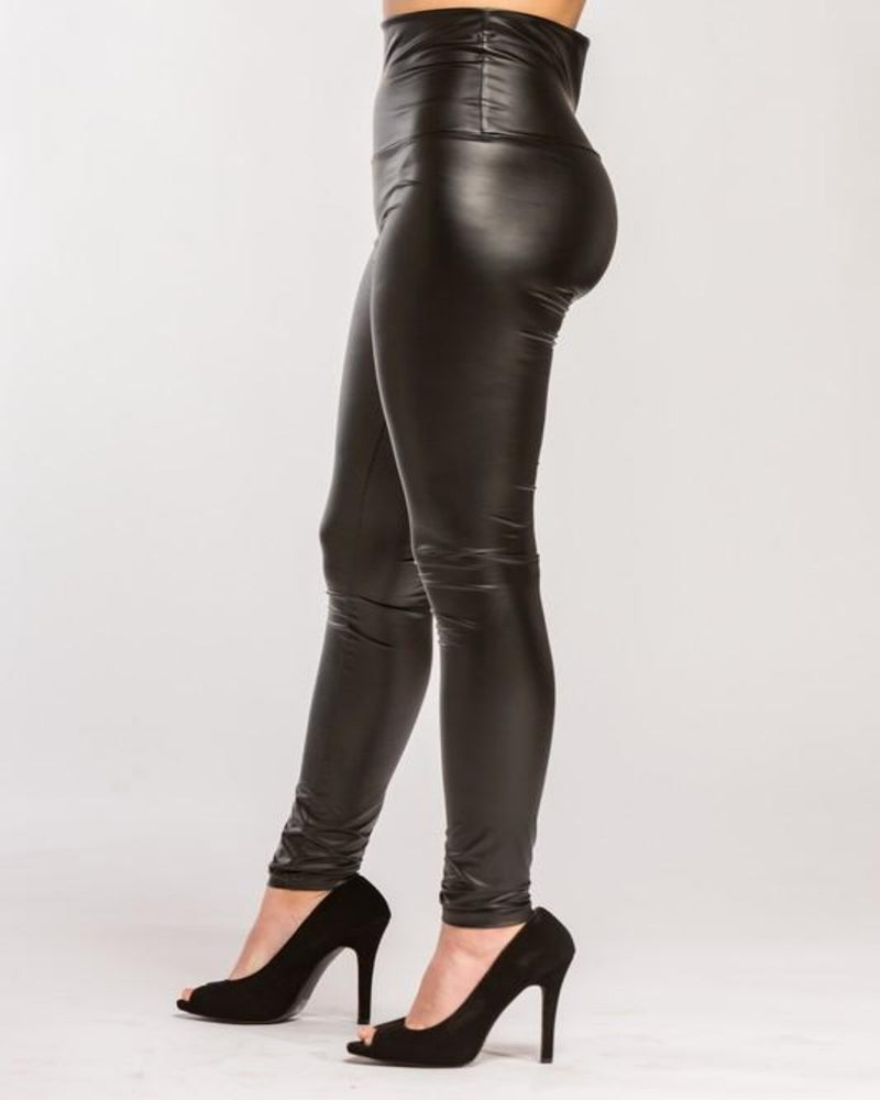 All Day Leather Leggings-bottoms-Cherish-Small-Inspired Wings Fashion