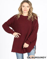 Chunky Knit Sweater-Sweaters-Inspired Wings Fashion-Small-Dk Burgundy-Inspired Wings Fashion