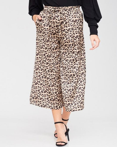 Wide Leg Animal Print Pants-bottoms-Inspired Wings Fashion-Small-Inspired Wings Fashion