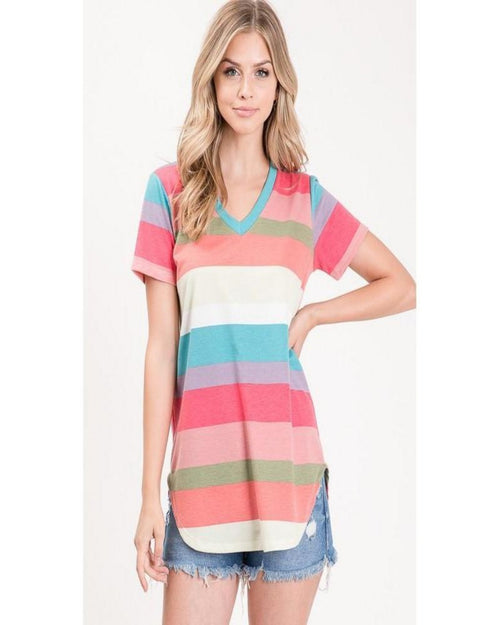 Timeless Striped Top-Tops-Heimish-Small-Inspired Wings Fashion