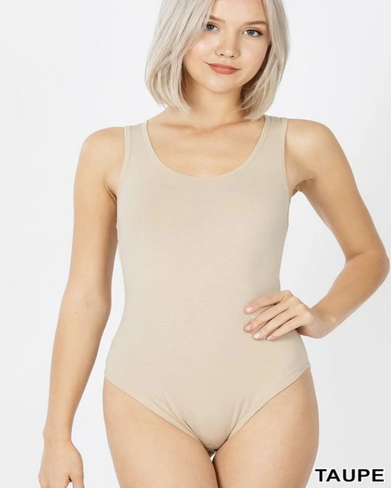 Prima Tucked Bodysuit-bodysuit-Zenana-Small-Taupe-Inspired Wings Fashion