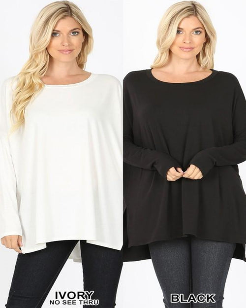 Dolman Long Sleeve-Tops-Inspired Wings Fashion-Small-Black-Inspired Wings Fashion