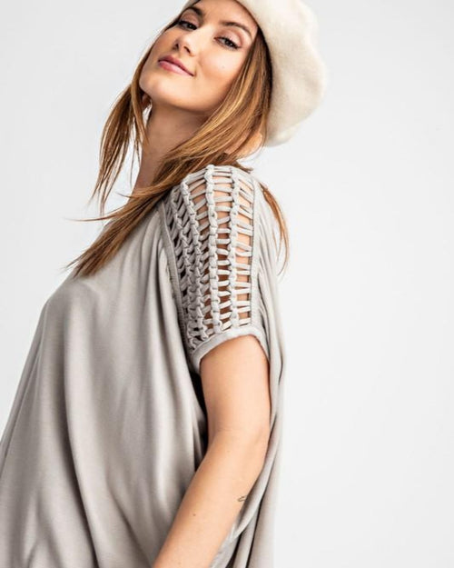Self Braided Tunic Top-Tops-Easel-S-Sage Grey-Inspired Wings Fashion