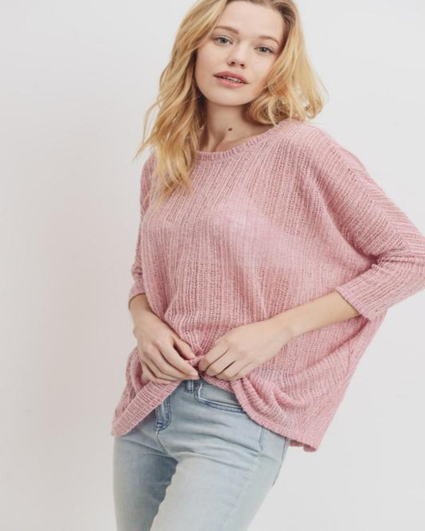Drop Shoulder Knit Top