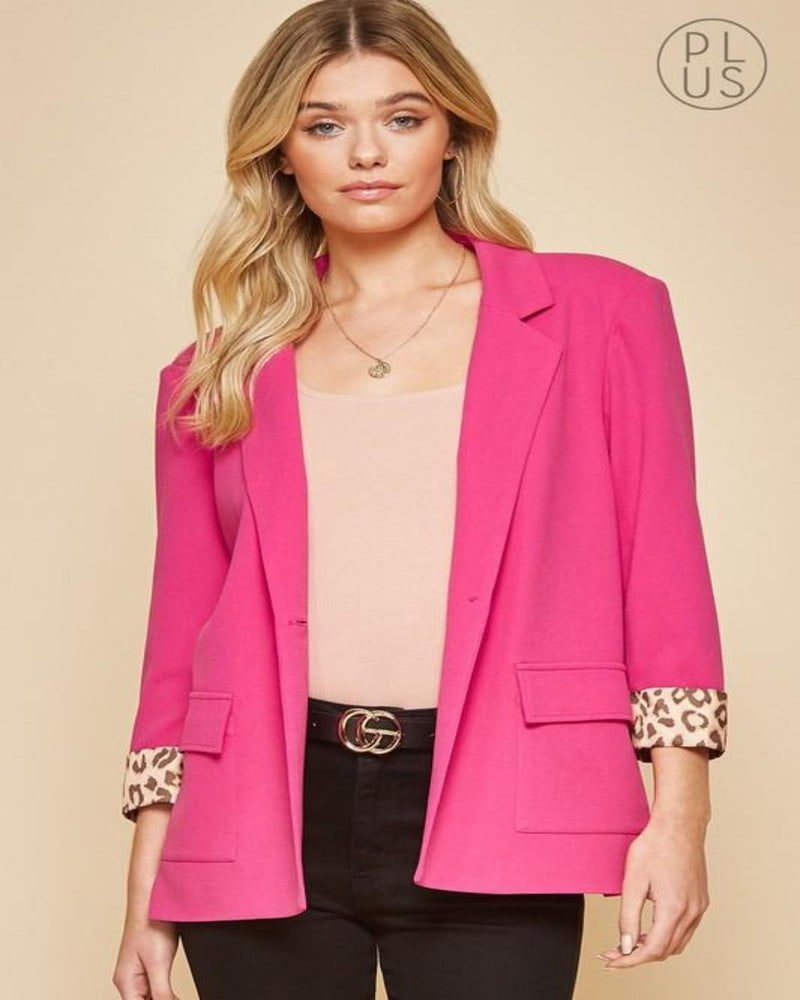 Chic N' Style Blazer-Sweaters-Andree by Unit-Small-Pink-Inspired Wings Fashion