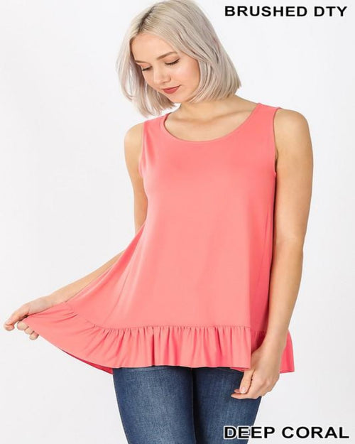 Something Ruffled Top-Tops-Zenana-Small-Coral-Inspired Wings Fashion