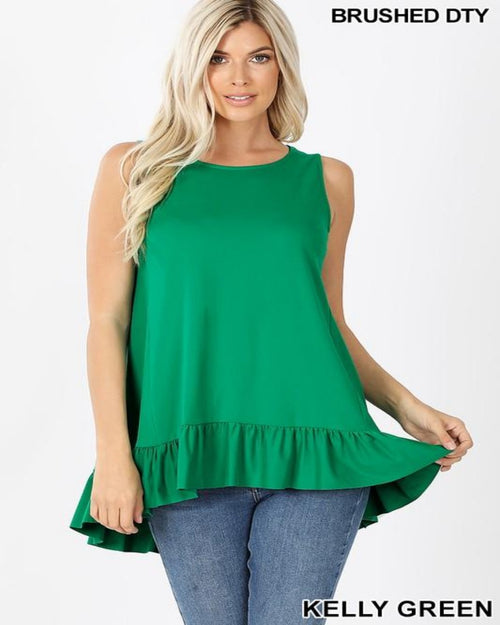 Something Ruffled Top-Tops-Zenana-Small-Green-Inspired Wings Fashion