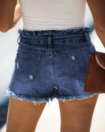 Chilled Out Denim Short-bottoms-Lily Clothing-Small-Darkdenim-Inspired Wings Fashion