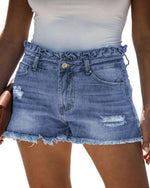 Chilled Out Denim Short-bottoms-Lily Clothing-Small-Denim-Inspired Wings Fashion