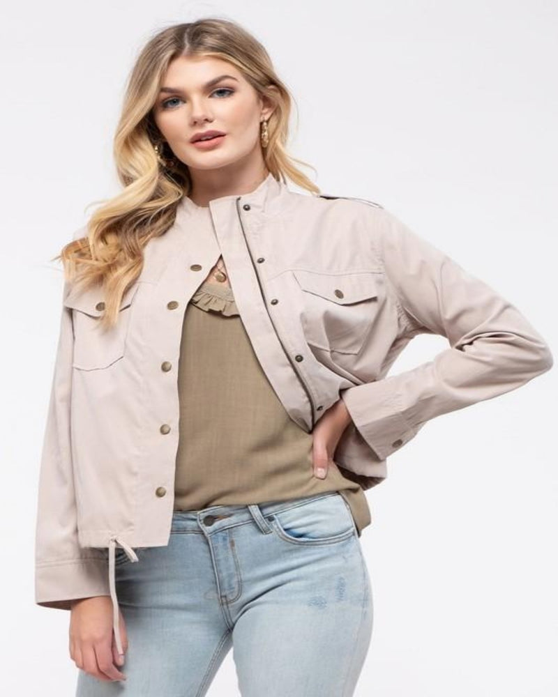 Let's Chill Utility Jacket-Cardigans-Blu Pepper-Small-Khaki-Inspired Wings Fashion