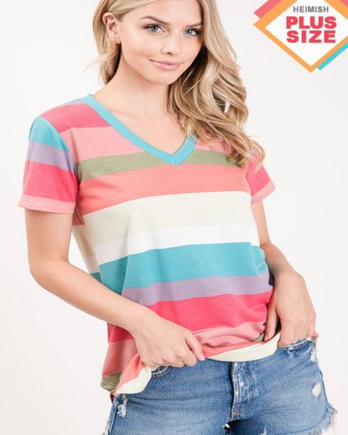 Timeless Striped Top-Tops-Heimish-1X-Inspired Wings Fashion
