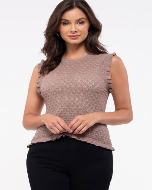 Posh Spice Knit Top-Tops-Blu Pepper-Small-Mocha-Inspired Wings Fashion