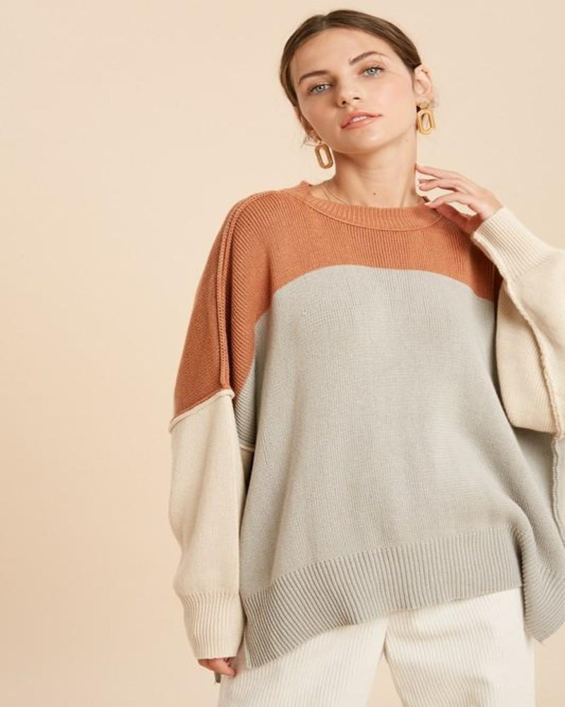COLORBLOCK INVERTED SEAM DETAIL SWEATER-Top-Wishlist-S/M-Inspired Wings Fashion