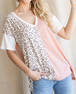 Leopard Print Contrast Top-Tops-Jodifl-Small-Inspired Wings Fashion