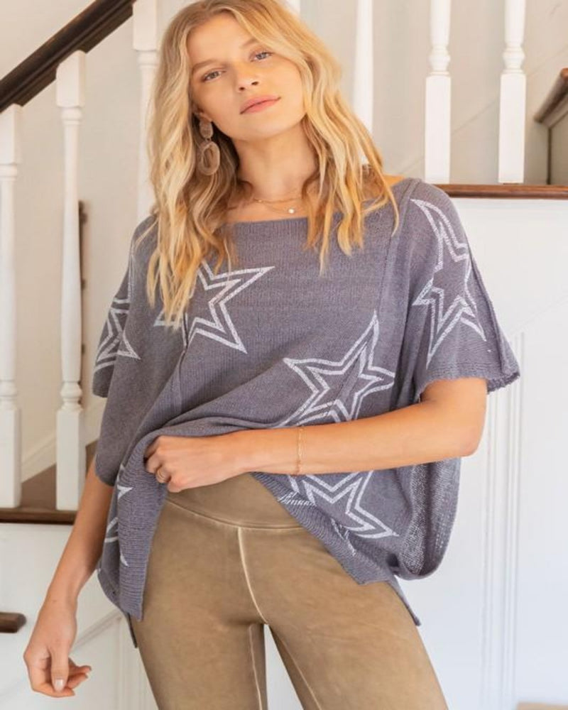 Star Sweater Top-Tops-Pol Clothing-Small-Inspired Wings Fashion