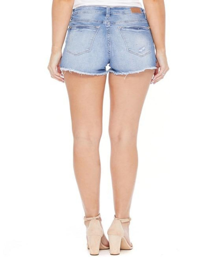 Denim Lace Shorts-bottoms-Judy Blue-Small-Inspired Wings Fashion