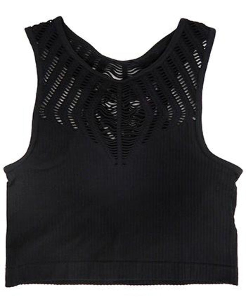High Neck Crop Top-Top-Yahada-S/M-Black-Inspired Wings Fashion