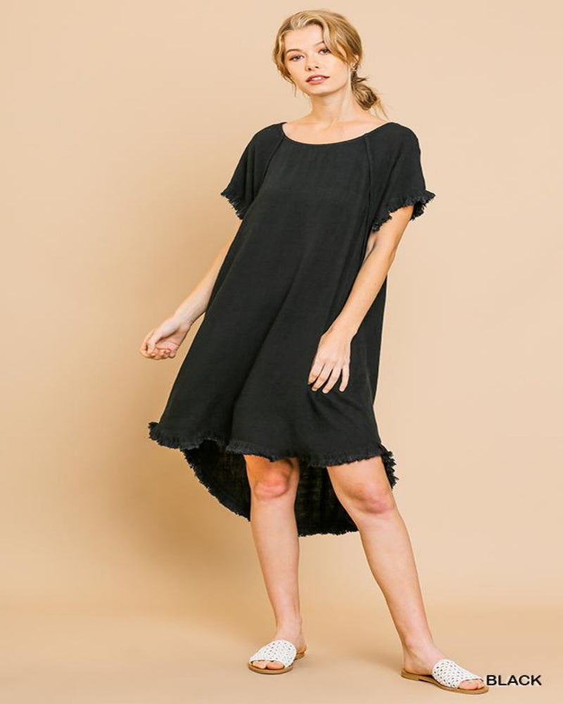 C1716-Dresses-Umgee-Small-Black-Inspired Wings Fashion
