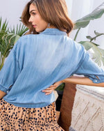 Buttons And Denims Top-Tops-Main Strip-Small-Denim-Inspired Wings Fashion