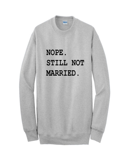 Nope Not Married-Tops-Inspired Wings Fashion-Small-Ash-Inspired Wings Fashion