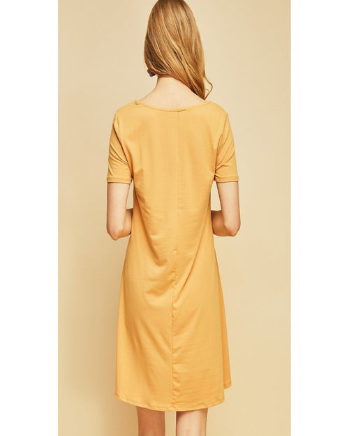 Must Have Mustard Shift Dress-Dresses-inspiredwingsfashion-Small-Inspired Wings Fashion