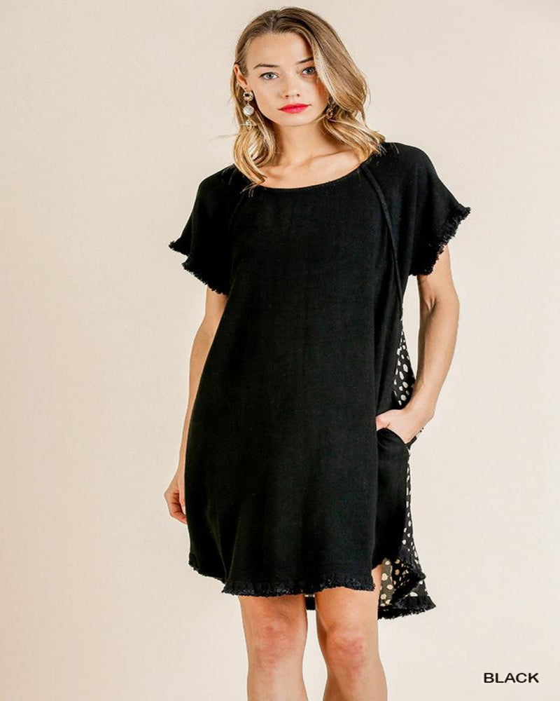 C2425-Dresses-Umgee-Small-Black-Inspired Wings Fashion