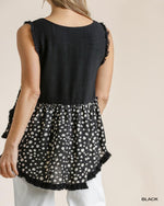 Dalmatian Sleeveless Top-Tops-Umgee-Small-Black-Inspired Wings Fashion
