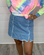 Denim In Shape Skirt-Skirt-Umgee-Small-Dark-Inspired Wings Fashion