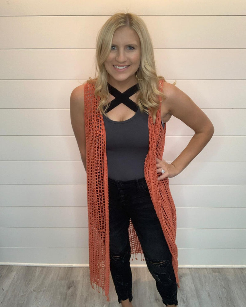 Cozy Crochet Cardigan-Cardigans-Easel-Small-Coral-Inspired Wings Fashion