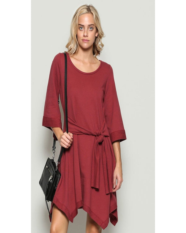 Life Is Beautiful Dress Maroon