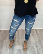 Frayed Crop Skinny Jeans-bottoms-Flying Monkey Jeans-24-Inspired Wings Fashion