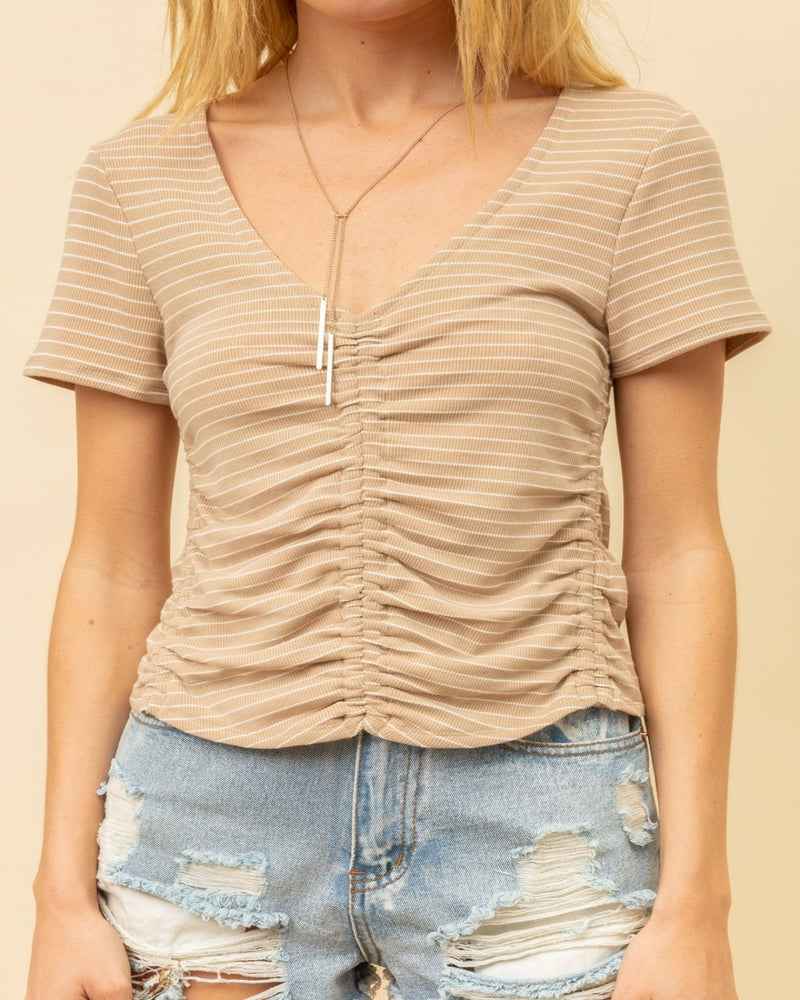 She Glows Ruched Top-Tops-Hem & Thread-Small-Inspired Wings Fashion