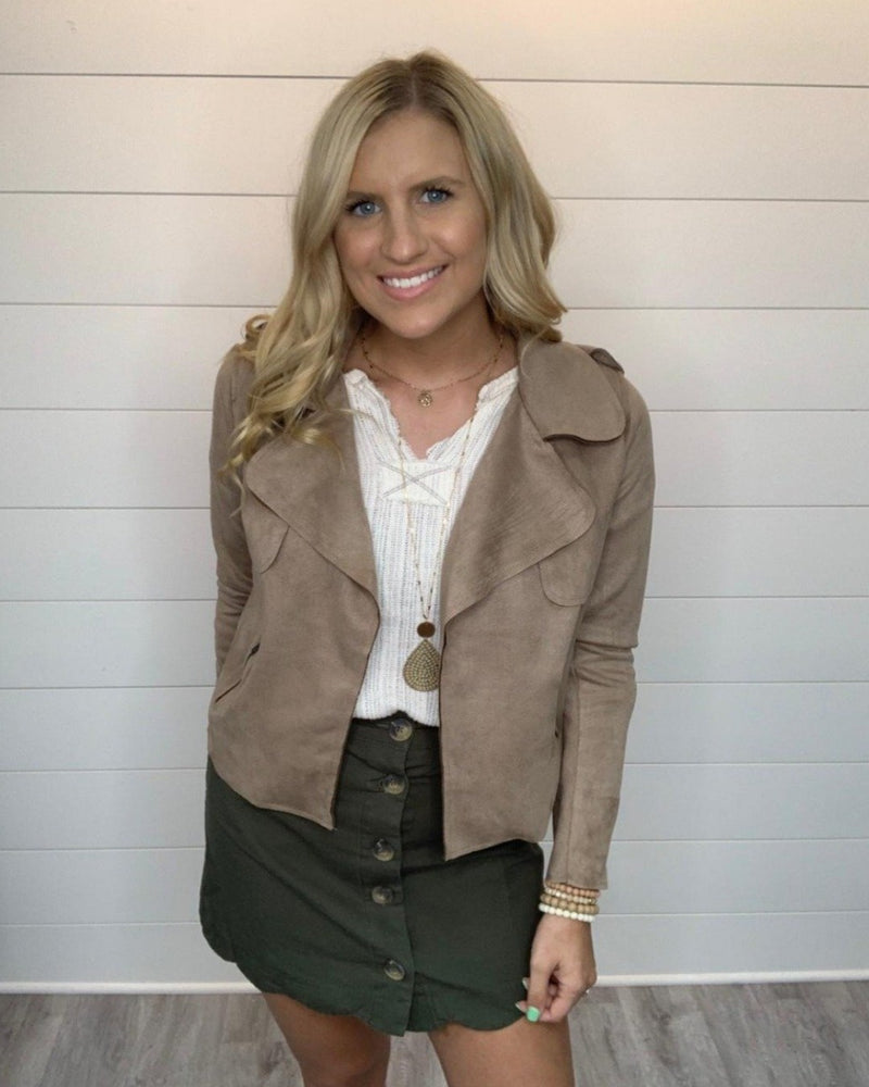 Chic Suede Moto Jacket-Cardigans-Blu Pepper-Small-Tan-Inspired Wings Fashion