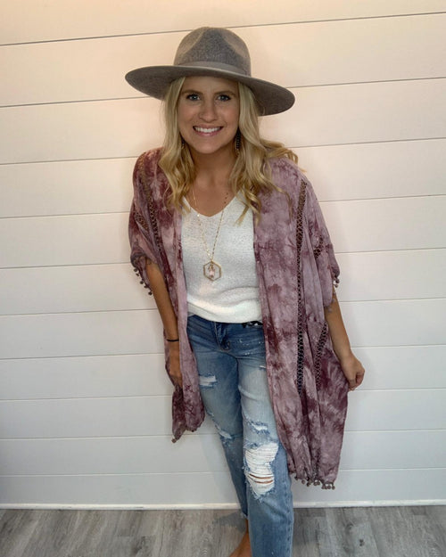Have To Wear Kimono-Cardigans-LLove-S/M-Dusty Mauve-Inspired Wings Fashion