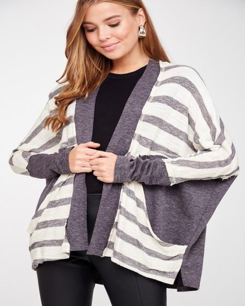 Wear It Well Cardigan-Cardigans-LLove-S/M-Charcoal-Inspired Wings Fashion