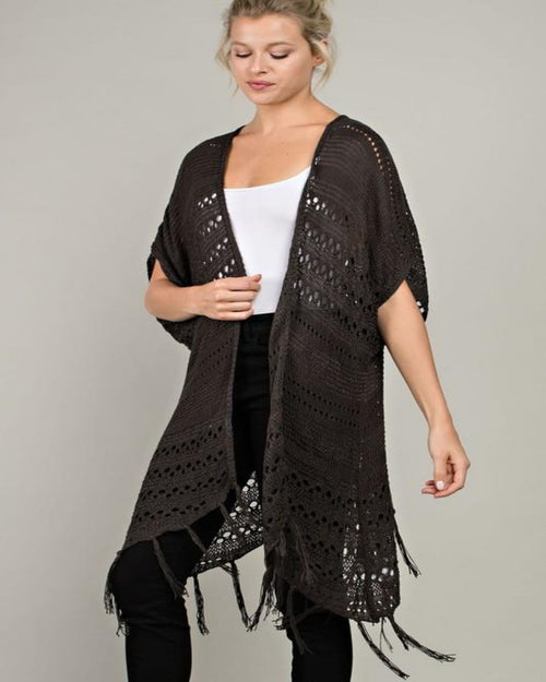 Fall Fringe Cardigan-Cardigans-Inspired Wings Fashion-Small-Black-Inspired Wings Fashion